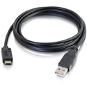 C2G 28871 USB 2.0 USB-C to USB-A Cable M/M - Black - 6 Foot