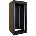 Hammond C2RR194223BK1 24U C2 Rapid Rack Equipment Storage Cabinet - 19x42x23 - Black