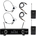 CAD Audio GXLD2BBAI Digital Wireless Dual Bodypack Microphone System AH Frequency Band (902.9 - 915.5 MHz)