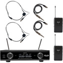 CAD Audio GXLD2BBAI Digital Wireless Dual Bodypack Microphone System AI Frequency Band (909.3 - 926.8 MHz)