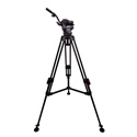 Cartoni KF08-1AM Focus 8 with Long Style Sliding Plate/75mm 1-Stage Aluminum Tripod/ML Spreader/Pan Bar & Soft Case