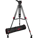 Cartoni KF10-RLM Focus 10 Head - 2 stage Red Lock Tripod - Smarts Lock ML Spreader - Pan Bar - Feet - Soft Case