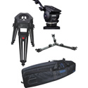 Cartoni KF22-1HC FOCUS 22 Head 1 Stage Aluminum 100mm HD Tripod ML Spreader Feet Pan Bar & Soft Case