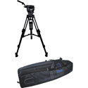 Cartoni KF22-2HC FOCUS 22 Head 2 Stage Aluminum 100mm HD Tripod ML Spreader Feet Pan Bar & Soft Case