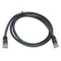 Connectronics 350MHz UTP CAT5e Patch Cable 1 Foot Black