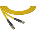 Laird CB-CB-18IN-YW Canare LV-61S RG59 BNC to BNC Video Cable - 18 Inch Yellow