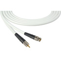 Laird CB-CR-18IN-WE Canare LV-61S RG59 BNC to RCA Video Cable - 18 Inch White