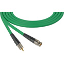 Laird CB-CR-25-GN Canare LV-61S RG59 BNC to RCA Video Cable - 25 Foot Green