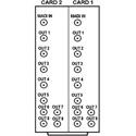 Cobalt Digital RM20-9257-B/S-HDBNC 20 Slot Frame Rear I/O Module (Split - Supports 2 Cards) 1 MADI Input - 9 MADI Output