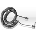 RTS CCX-2 Coiled Cable w/Right Angle 3.5mm connector 5 Feet Grey