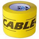 Pro Tapes 001CP430MYB 4-Inch x 30 Yard Yellow/Black Cable-Path Tape