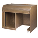 Chief ERT-CHSD Cherry Elite Roll Top Desk with Seating Cutout