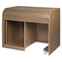 Chief ERT-WTSD Walnut Elite Roll Top Desk with Seating Cutout