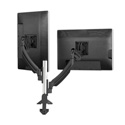 Chief K1C220B Kontour Dual Dynamic Column Clamp Mount - Dual Monitor - Black