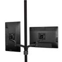Chief K2P220B Kontour Dual Arm Pole Mount Dual Monitor - Black