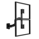Chief K4S120B Kontour K4 1x2 Vertical Focal Depth-Adjustable Array Slat-Wall Mounted - Black