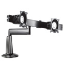 Chief KCS220B Single Arm Desk Mount Dual Monitor Array - Black