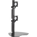 Chief KTP230B Dual Monitor Vertical Table Stand - Black
