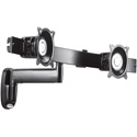 Chief KWS220B Single Arm Articulating Wall Mount - Dual Monitor - Black