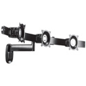 Chief KWS320S Single Arm Wall Mount - Triple Monitor - Silver