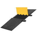 Checkers YJ5-125-ADA-Y/B 5 Channel ADA Cable Protector - Yellow Lid with Black Base