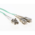 Cleerline 3DOM3LCSC01M LC/UPC-SC/UPC-3mm Riser-OM3-1m Fiber Cable