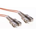 Cleerline DOM2SCSC02M SC/UPC-SC/UPC-1.6mm Riser-OM2-2m Fiber Cable