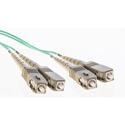 Cleerline DOM4SCSC02M SC/UPC-SC/UPC-1.6mm Riser-OM4-2m Fiber Cable