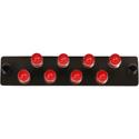 Cleerline SSF-ST08-MM-SM Plate (Black) ST MM/SM 8-Fiber Zirconia Ceramic Sleeve