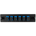 Cleerline SSF-SC06-SM-OS2 Plate (Blue) SM (OS1 & OS2) Duplex SC 6-Fiber Zirconia Ceramic Sleeve