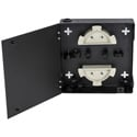 Cleerline SSF-SWM-SOLID-NL-E1 Extra Small - 1 Adapter Plate Capable - Single Door - No Lock - Empty