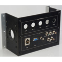Custom 9 x 6.5 Recessed Black Anodized Back-Box with Side Entry Ports