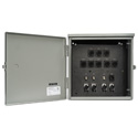 Custom 12x12x8 Weather Resistant Box With Lockable Door Loaded With True1TOP/EtherCON/BNC Connectors - Black Anodized