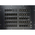 Custom opticalCON Fiber / Video / Intercom / DANTE/ Audio/ Control Panel Truck I/O Panel