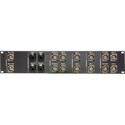 Custom 2RU AV Panel With RJ45/BNC Connectors - Black Anodized