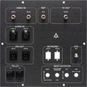 Custom 11.375x11.375 Black Anodized PTZ Control & IFB Feed AV Panel - 6030-EP