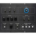 Custom  Panel WMAQ - 21.375x11.375 - 6320-EP - XLR/SDI/NETWORK - Black Anodized