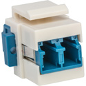 Camplex CMX-KP-3002 Keystone Coupler - Fiber Optic LC to LC Duplex Single Mode- Blue and White