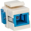 Camplex CMX-KP-3003 Keystone Coupler - Fiber Optic SC to SC Simplex Single Mode-Blue and White