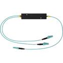 Photo of Camplex CMX-MM1X2LC-006 OM3 50u Multimode LC Fiber Optic 1x2 Splitter Cable - 6 Foot
