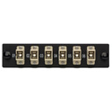 Camplex CMX-MP06SCM 6 Port SC Simplex 50/62/5 Multimode Fiber Adapter Plate Module with Phosphor Bronze Connectors