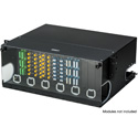 Camplex CMX-MPR-4RU Adjustable Fiber Enclosure for 19 or 23-Inch Racks - Holds 12 Modules for up to 288 Fibers