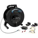 Camplex TACNGO-12GTR 12G-SDI Fiber Optic Converter/Extender & Tactical Cable Reel System - 1000 Foot