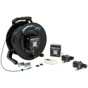 Camplex TACNGO-AUD 2-Channel Line/Mic Audio Fiber Optic Tactical Cable Reel Extender System - 1000 Foot