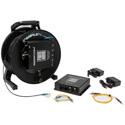 Camplex TACNGO-AUDBD 2-CH Bi-Directional Line Audio Tactical Fiber Optic Cable Reel Extender System - 1000 Foot