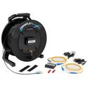 Camplex TACNGO-E2F 100BaseT Ethernet Tactical Fiber Optic Cable Reel Extender System - 1000 Foot