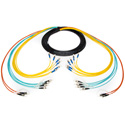 Camplex CMX-TASST-0500 TAC-ALL 12-Channel ST Single Mode & ST Multimode Fiber Optic Tactical Snake - 0500 Foot