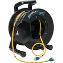 Camplex 4-Channel LC Singlemode Fiber Optic Tactical Snake on Reel 250 Ft