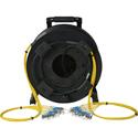 Camplex 12-Channel ST Single Mode Fiber Optic Tactical Snake on Reel 250 Foot