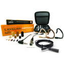 Point Source Audio Switch Kit - SERIES8 Omni High Sensitivity Lavalier Mic & Accs Set with Organizer for Lemo - Black